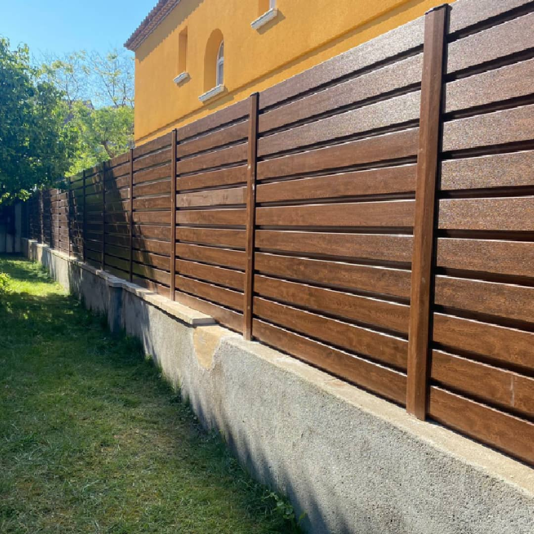 alla de PVC imitación madera